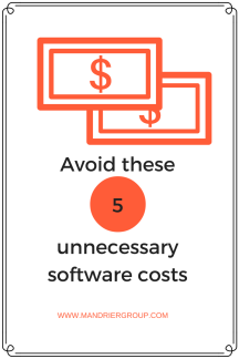 Avoid these 5 software costs